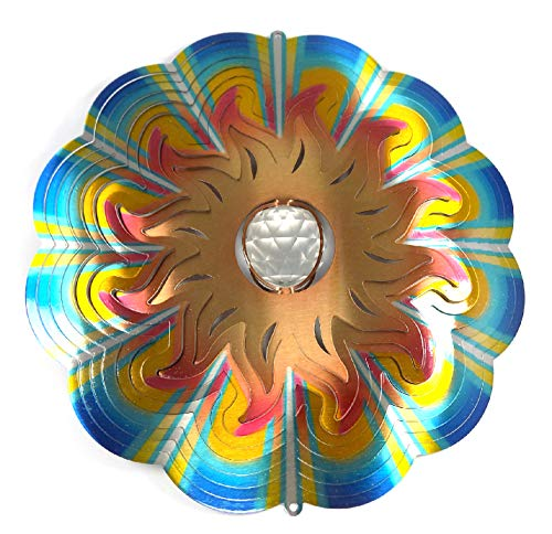WorldaWhirl-Whirligig-3D-Wind-Spinner-Hand-Painted-Stainless-Crystal-Twister-Bundle-12-Inch-Set-of-4-0-0