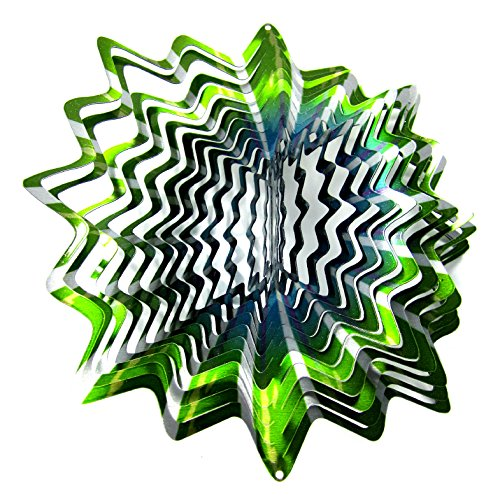 WorldaWhirl-Whirligig-3D-Wind-Spinner-Hand-Painted-Stainless-Steel-Twister-Star-2-12-3D-Spiral-Tails-Swivels-and-Hooks-Multi-Color-Combo-Set-0-0