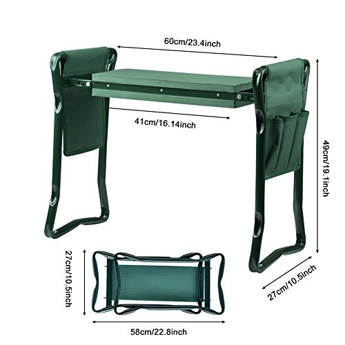 Wuudi-Folding-Garden-Kneeler-Seat-Bench-with-Two-Tool-Pouches-and-Kneeling-Pads-Used-in-Gardening-Work-0-0