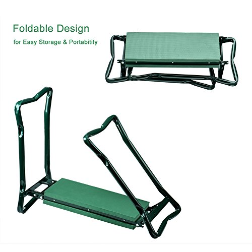 Wuudi-Folding-Garden-Kneeler-Seat-Bench-with-Two-Tool-Pouches-and-Kneeling-Pads-Used-in-Gardening-Work-0-2
