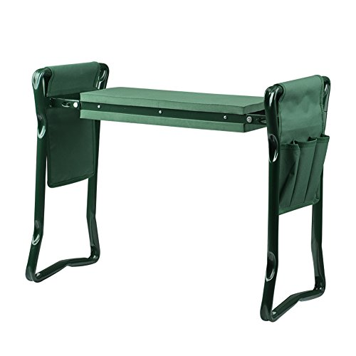 Wuudi-Folding-Garden-Kneeler-Seat-Bench-with-Two-Tool-Pouches-and-Kneeling-Pads-Used-in-Gardening-Work-0