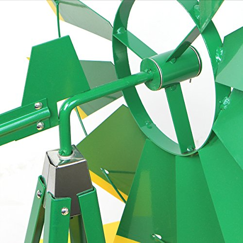 XtremepowerUS-8FT-Green-Metal-Windmill-Yard-Garden-Wind-Mill-0-2