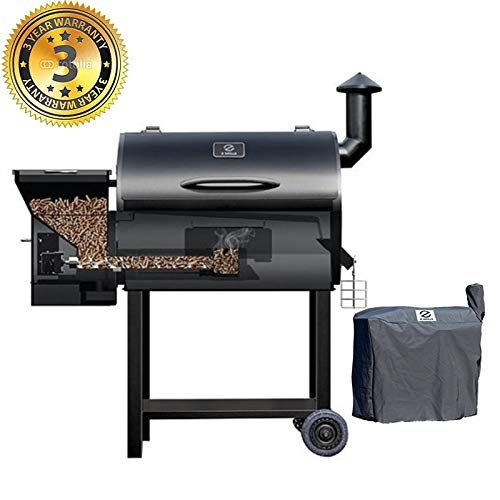 Z-GRILLS-Wood-Pellet-Grill-Smoker-7-in-1-Electric-BBQ-Grill–700Sqin-Cooking-Area-for-Outdoor-BBQ-Smoker-Roast-BakeBraise-and-BBQ-Grill-with-Free-Grill-Cover-0