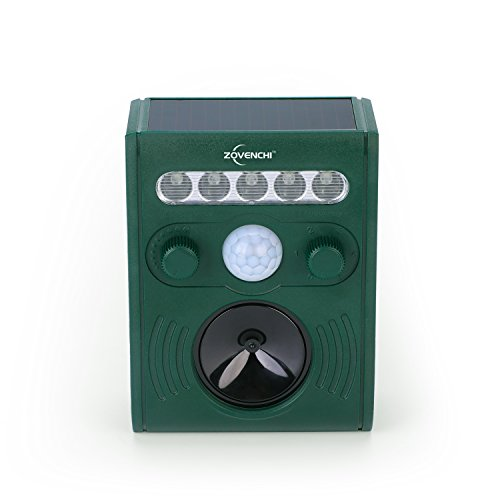 ZOVENCHI-Ultrasonic-Animal-Pest-Repellent-Outdoor-Solar-Animal-Repeller-with-LED-Flashing-Light-Waterproof-Pest-Repeller-with-Motion-Sensor-Repel-Dogs-Cats-Squirrels-Rabbits-and-More-0-0