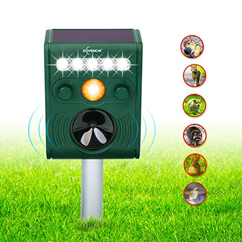 ZOVENCHI-Ultrasonic-Animal-Pest-Repellent-Outdoor-Solar-Animal-Repeller-with-LED-Flashing-Light-Waterproof-Pest-Repeller-with-Motion-Sensor-Repel-Dogs-Cats-Squirrels-Rabbits-and-More-0