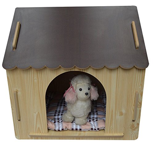 ZeeMoe-Brown-Large-Easy-Assembly-IndoorOutdoor-Wooden-Dog-House-Dog-House-0-0